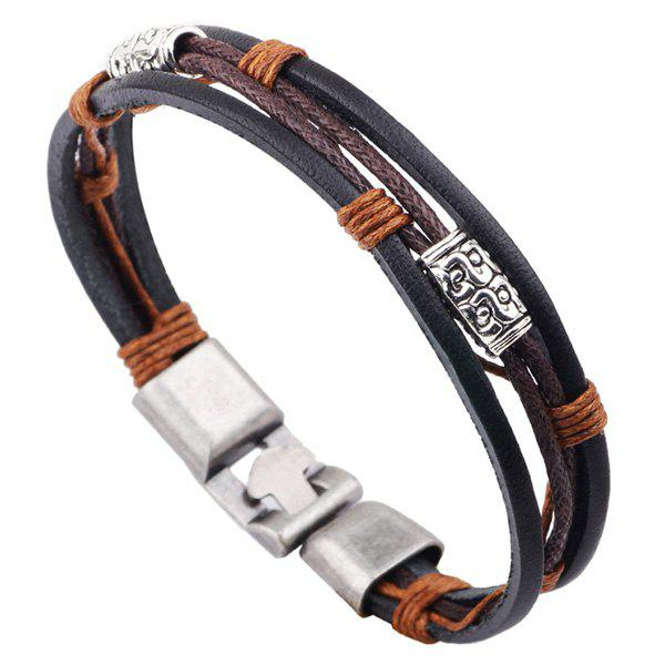 Rope Faux Leather Braided Bracelet