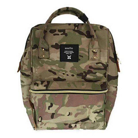 Canvas Metal Camouflage Pattern Backpack - CAMOUFLAGE