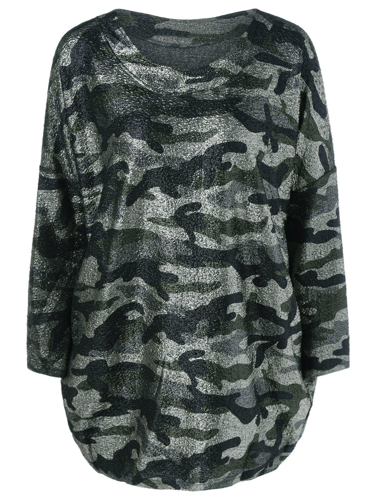Loose Camouflage Tee - ARMY GREEN ONE SIZE