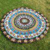 Ethnic Indian Paisley and Elephant Print Chiffon Round Beach Throw - YELLOW ONE SIZE(FIT SIZE XS TO M)