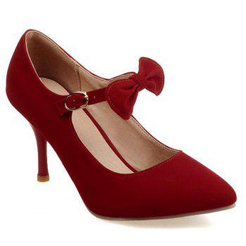 Buckle Point Toe Bowknot Pumps