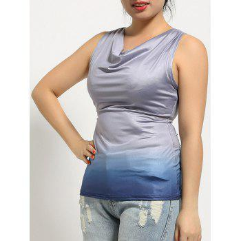 Ombre Criss-Cross Slimming Tank Top