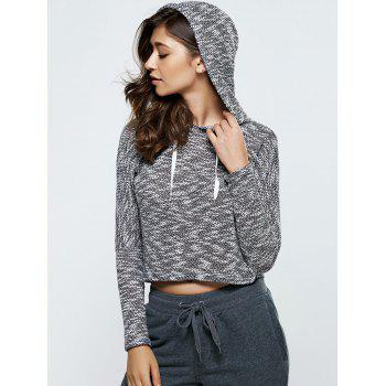 Manches longues Heathered Drawstring Hoodie - Noir M