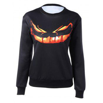 Long Sleeve Cartoon Print Sweatshirt