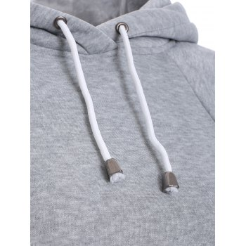 Lâche Cape manches Sweat à capuche - Gris M
