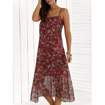 Chiffon Midi Casual Flower Club Dress