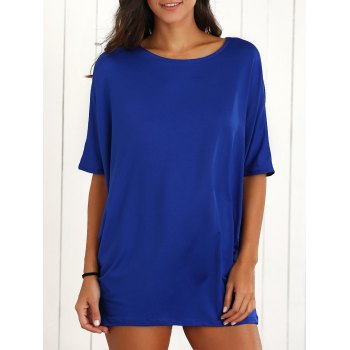 Batwing Sleeve Ruched Baggy  Dress
