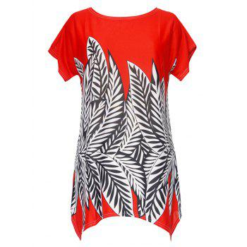Asymmetrical Print Blouse