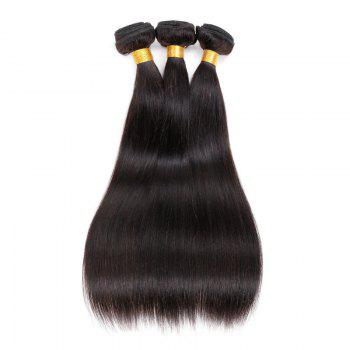 Buy 6A Virgin Straight Brazilian Hair Weaves BLACK