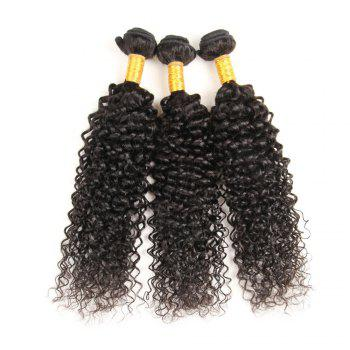 Buy 6A Virgin Kinky Curly Brazilian Hair Weaves BLACK