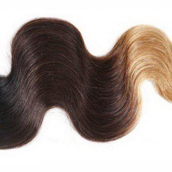 Body Wave 1 Pcs 6A Virgin Multicolor Brazilian Hair Weaves - COLORMIX 14INCH