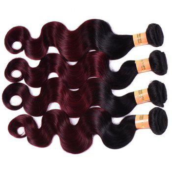 Body Vague 1 Pcs Multicolor 6A Vierges brésiliennes Tissages cheveux - multicolorcolore 16INCH