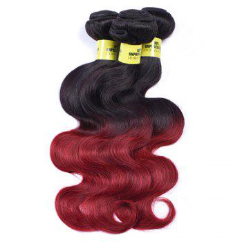 6A Virgin Body Wave 1 Pcs Multicolor Brazilian Hair Weaves - COLORMIX 12INCH