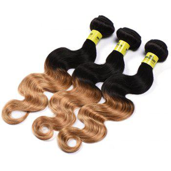 6A Virgin 1 Pc Multicolored Body Wave Brazilian Hair Weaves - COLORMIX 18INCH
