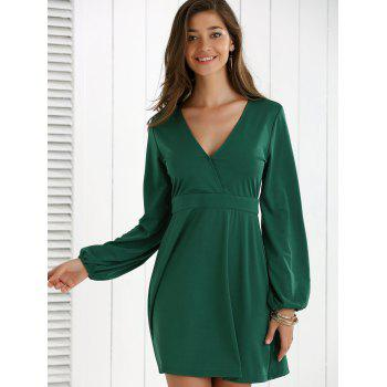 Low Cut Fit and Flare Dress - XL XL