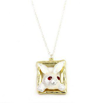 Faux Ruby Rabbit Head Sweater Chain