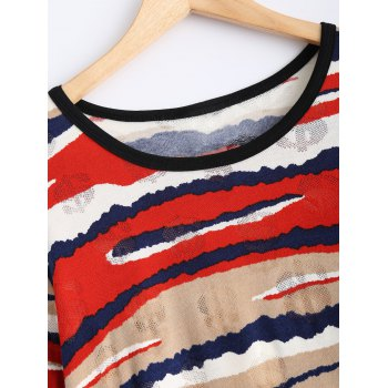 Striped Dollar Sign Dress - ONE SIZE ONE SIZE