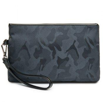 Nylon Zipper Camouflage Pattern Clutch Bag