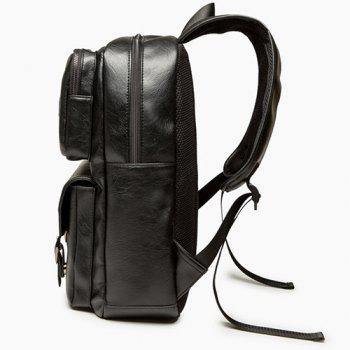 Point Buckle Strap Backpack - Noir