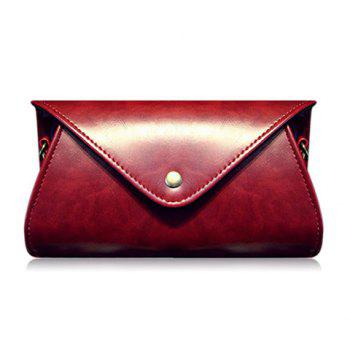 Dark Color PU Leather Covered Closure Crossbody Bag