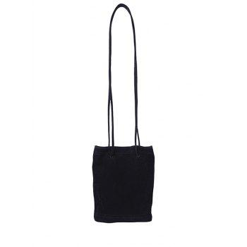 Magnetic Closure Faux Suede Crossbody Bag