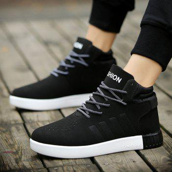 Color Block Lace Up Casual Shoes