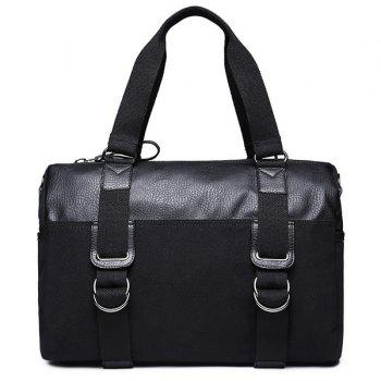 Metal Splicing Canvas Briefcase