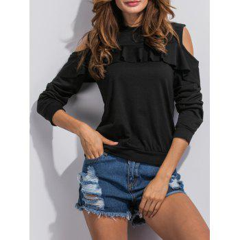 Buy Flounce Cut Sweatshirt BLACK