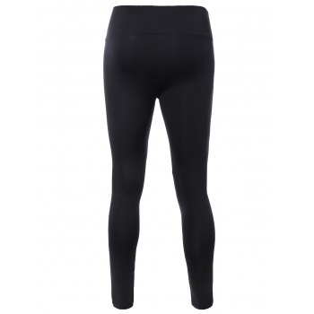 Stretched High Waisted Yoga Leggings - ONE SIZE ONE SIZE