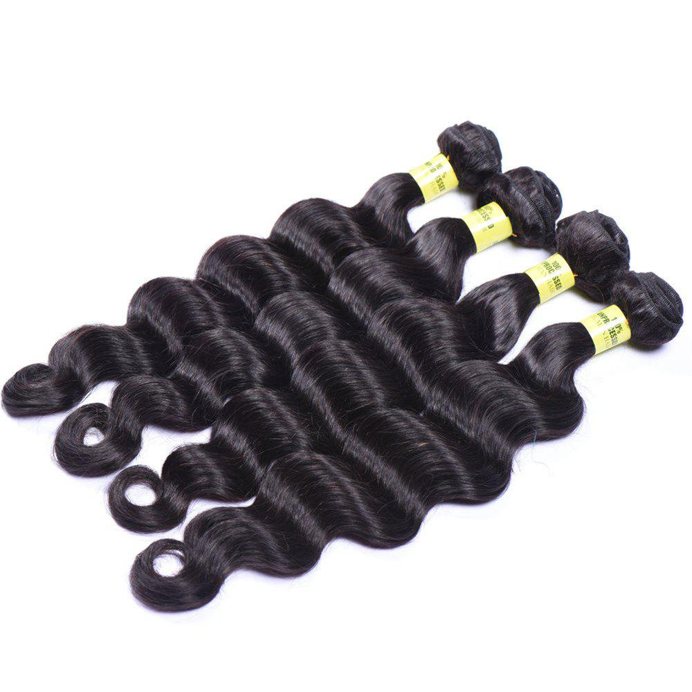 Deep Wave 1 Pcs 6A Virgin Brazilian Hair Weaves - BLACK 24INCH