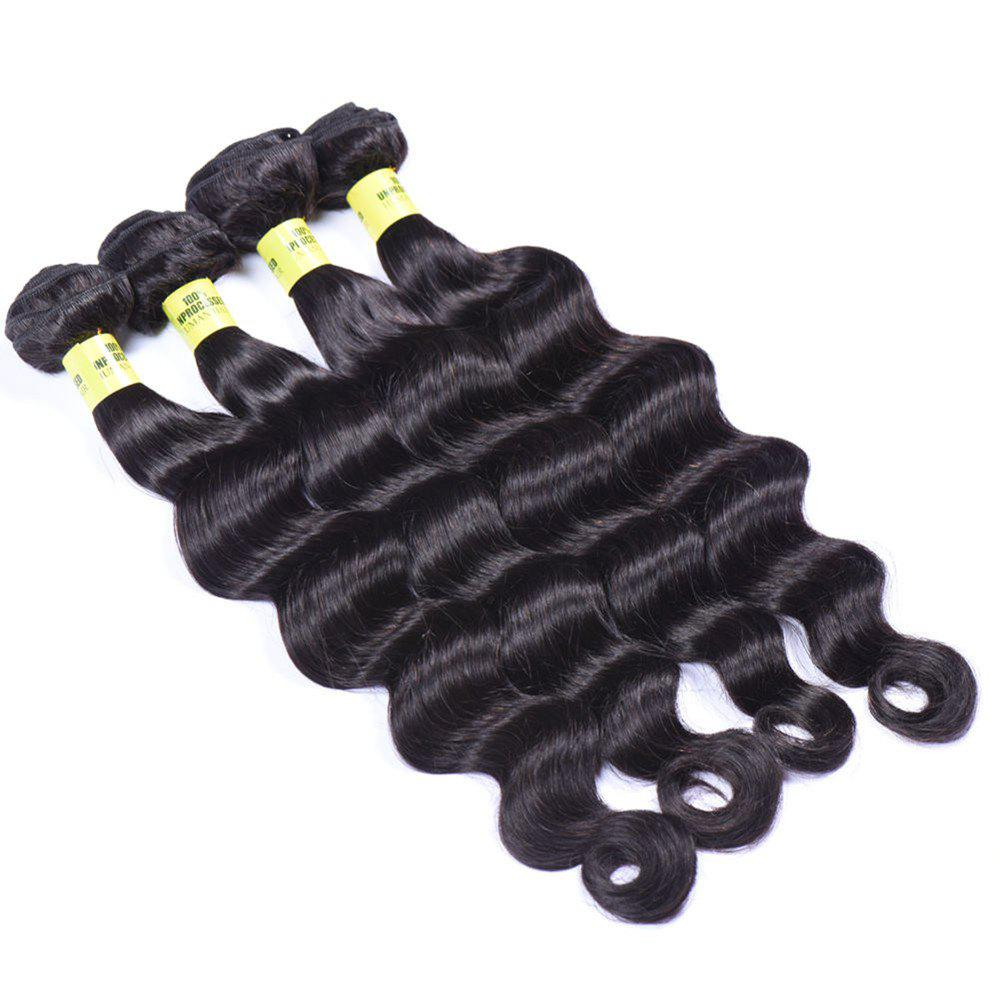 Deep Wave 1 Pcs 6A Virgin Brazilian Hair Weaves - BLACK 12INCH