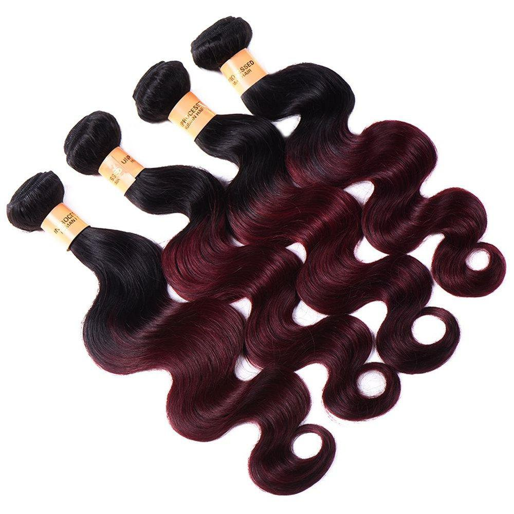 Body Vague 1 Pcs Multicolor 6A Vierges brésiliennes Tissages cheveux - multicolorcolore 14INCH