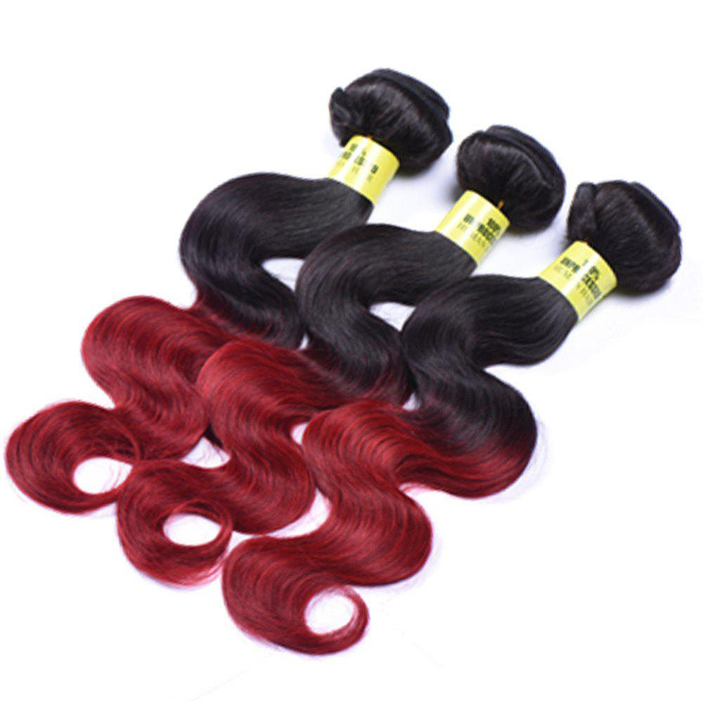 6A Virgin Body Vague 1 Pcs Multicolor brésiliens Tissages Cheveux - multicolorcolore 10INCH