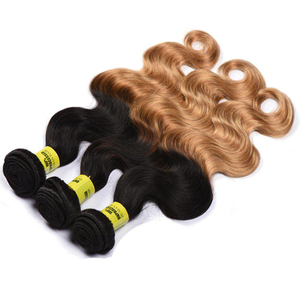 6A Virgin 1 Pcs Multicolores Body Vague brésilienne Tissages Cheveux - multicolore 12INCH