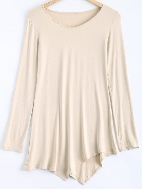33812281 41% OFF] 2019 Asymmetrical Tunic T-Shirt In OFF WHITE | DressLily