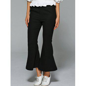 High Waisted Fitted Boot Cut  Pants