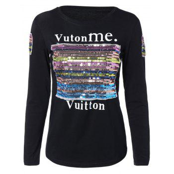 Sequined Patched T-Shirt