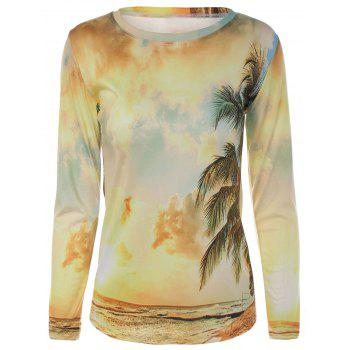 Ocean Scenery 3D Print Long Sleeves T-Shirt
