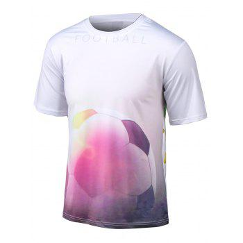 Round Neck Short Sleeve Football 3D Print T-Shirt