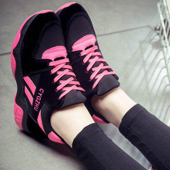 Splicing Tie Up Colour Block Athletic Shoes - 40 40