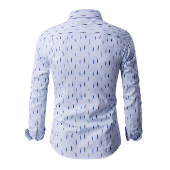 Anti-Wrinkle Design Printed Long Sleeve Shirt - M M