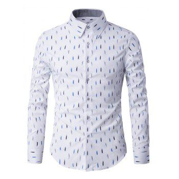 Anti-Wrinkle Design Printed Long Sleeve Shirt