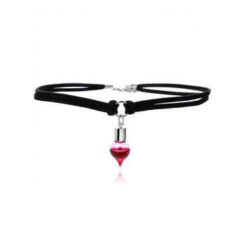 Faux Leather Round Blood Halloween Choker