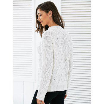 Long Sleeves Geometric Sweater - ONE SIZE ONE SIZE