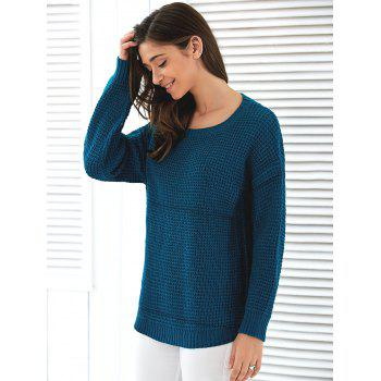 Loose Fit Pullover Sweater - ONE SIZE ONE SIZE