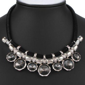 Autumn Collocation Rhinestone Inlay Mesh Necklace