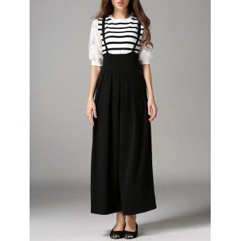 Loose High Waist Pleated Overalls
