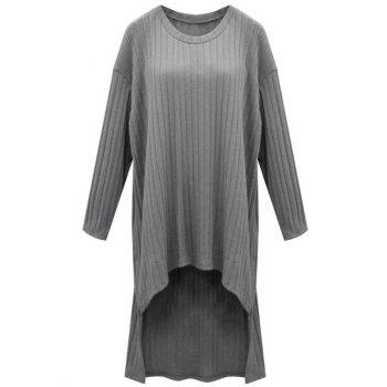 Bat Sleeve Asymmetrical Plus Size Dress