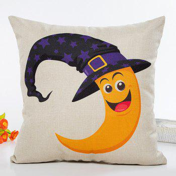 Halloween Moon Witch Hat Cartoon Sofa Cushion Pillow Case