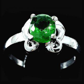 Emerald Oval Butterfly Ring